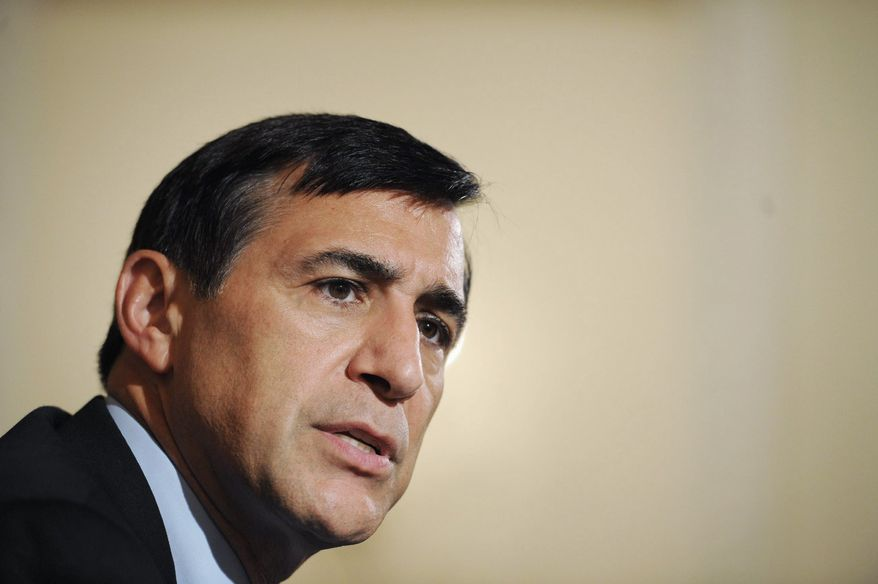 """""""I will keep the light on this issue until we have a law,"""" Rep. Darrell E. Issa, California Republican and chairman of the House Oversight and Government Reform Committee, said of the D.C. budget-autonomy issue. (Rod Lamkey Jr./The Washington Times)"""