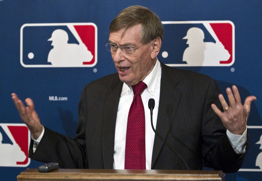 Major League Baseball commissioner Bud Selig speaks after the owner's meeting, Thursday, Nov. 17, 2011, in Milwaukee. (AP Photo/Morry Gash)