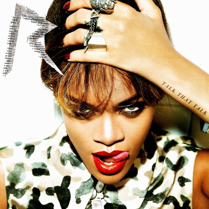 "In this CD cover image released by Island Def Jam Music Group, the latest release by Rihanna, ""Talk that Talk,"" is shown. (AP Photo/Island Def Jam Music Group)"