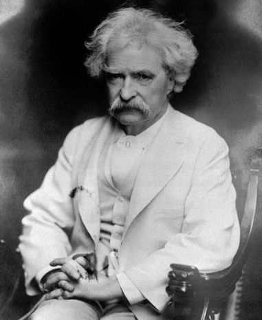 "Humorist Mark Twain observed, ""No man's life, liberty or property is safe while"