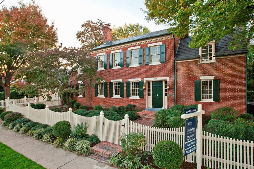 Spring Gardens, the 18th-century home at 414 Franklin St. in Alexandria, is on the market for $4,200,000. It is said George Washington spent his last Fourth of July at the home in 1798, when it was a tavern and oyster house.