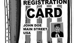 Illustration: Voter ID by John Camejo for The Washington Times