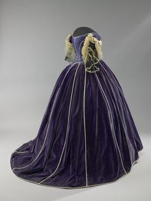 Mary Todd Lincoln's three-piece purple velvet ensemble is thought to have been made by black dressmaker Elizabeth Keckley. Mrs. Lincoln is shown as an influential anti-slavery advocate who supported Union troops. (Photo courtesy Smithsonial National Museum of American History)