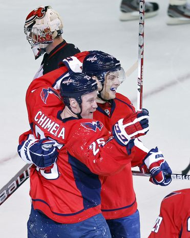 Washington Capitals forward Jason Chimera has never had more than 17 goals in a season, but already has eight in 20 games this season. He's on pace for 33 g