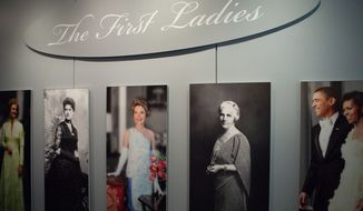 """Gowns worn by American first ladies, long a popular feature at the Smithsonian's National Museum of American History, is part of the new """"First Ladies"""" galleries there. The exhibit also focuses on how the presidents' wives have defined and changed that role. (Photo provided by Smithsonian National Museum of American History)"""