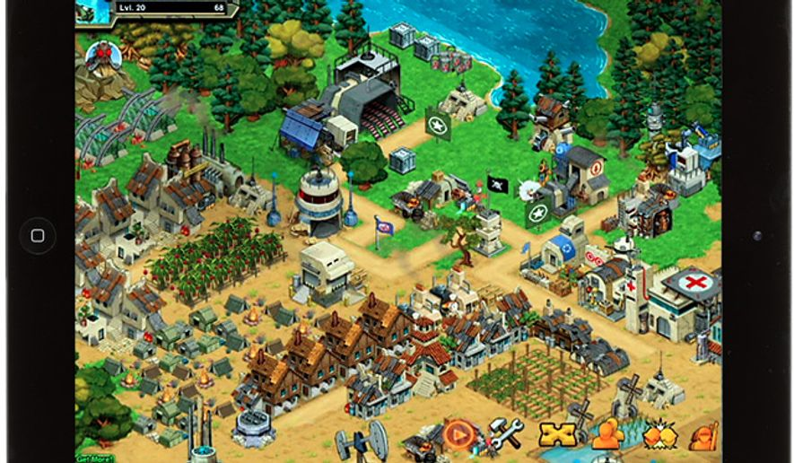 Build and micromanage a complex settlement in the iPad game Battle Nations.