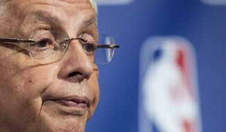** FILE ** In this Nov. 10, 2011, file photo, NBA commissioner David Stern speaks during a news conference in New York. NBA owners and players reached a tentative agreement early Saturday morning, Nov. 26, 2011, to end the 149-day lockout. (AP Photo/John Minchillo, File)