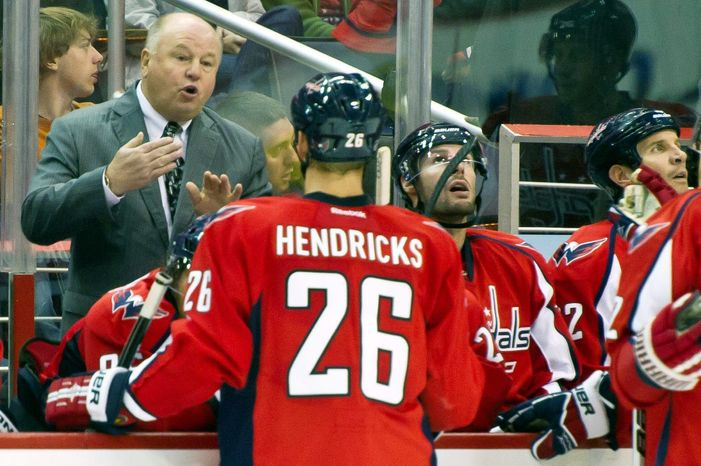 Bruce Boudreau's message had become lost on a Capitals team that started 7-0-0 but has gone just 5-9-1 since then. Boudreau's record was 201-88-40 since becoming Washington's coach Thanksgiving Day 2007. (Andrew Harnik/The Washington Times)
