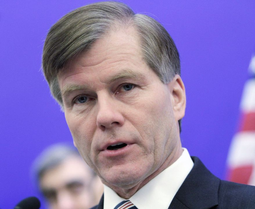 "Virginia Gov. Bob McDonnell said Thursday, ""We simply cannot afford a government that just grows bigger and bigger with each passing year."" (Associated Press)"