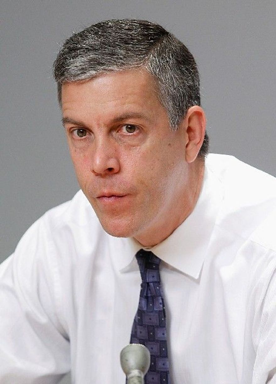"Education Secretary Arne Duncan says ""children who need more are getting less."" A new report found inequitable Title 1 funding between poorer schools and wealthier ones. (Associated Press)"