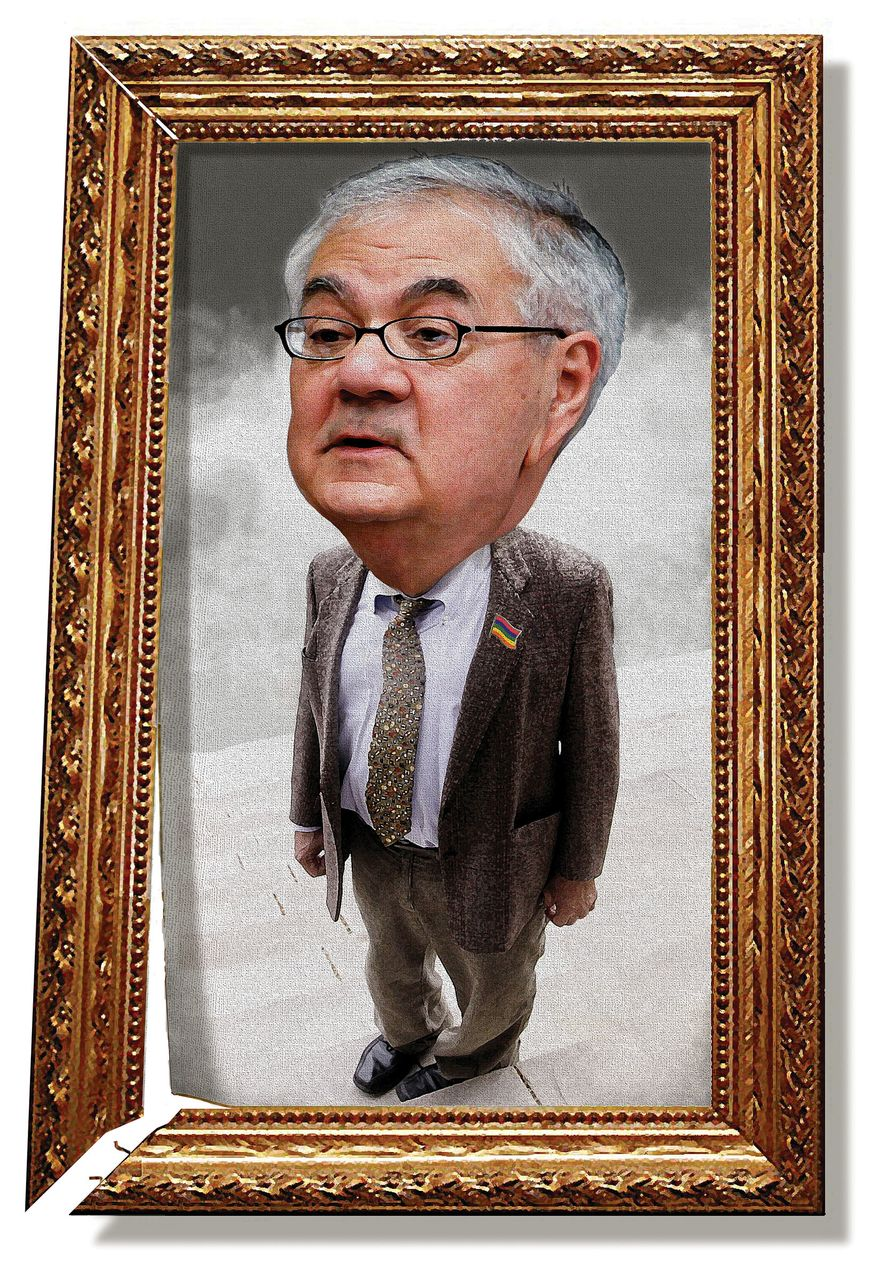 Illustration: Barney Frank by Alexander Hunter for The Washington Times