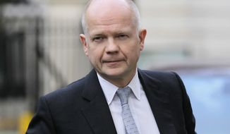 British Foreign Secretary William Hague (AP Photo/Sang Tan)