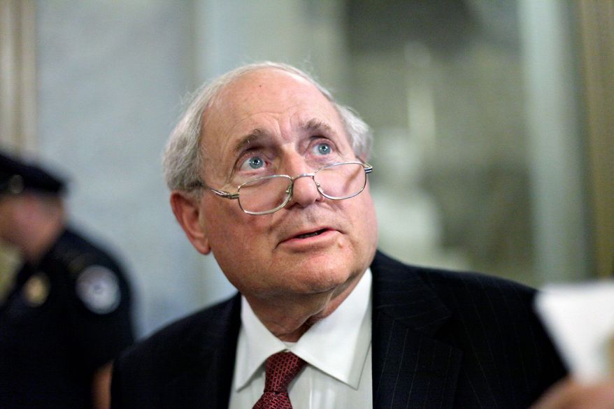 Senate Armed Services Committee Chairman Carl M. Levin pressed for a probe of a government briefing program, but no misconduct was found. (Associated Press)