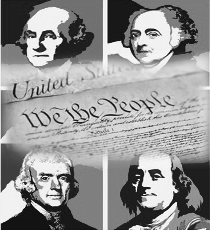 Illustration: Founding Fathers by John Camejo for The Washington Times