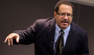 "Author and activist Michael Eric Dyson is calling on blacks to march on the Republican National Convention in Cleveland with ""revolutionary intentions"" and preparedness for violence. (Associated Press)"
