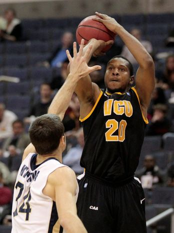 Virginia Commonwealth's Bradford Burgess continued his hot shooting Sunday against George Washington as he scored a game-high 24 points in the victory. (Associated Press)