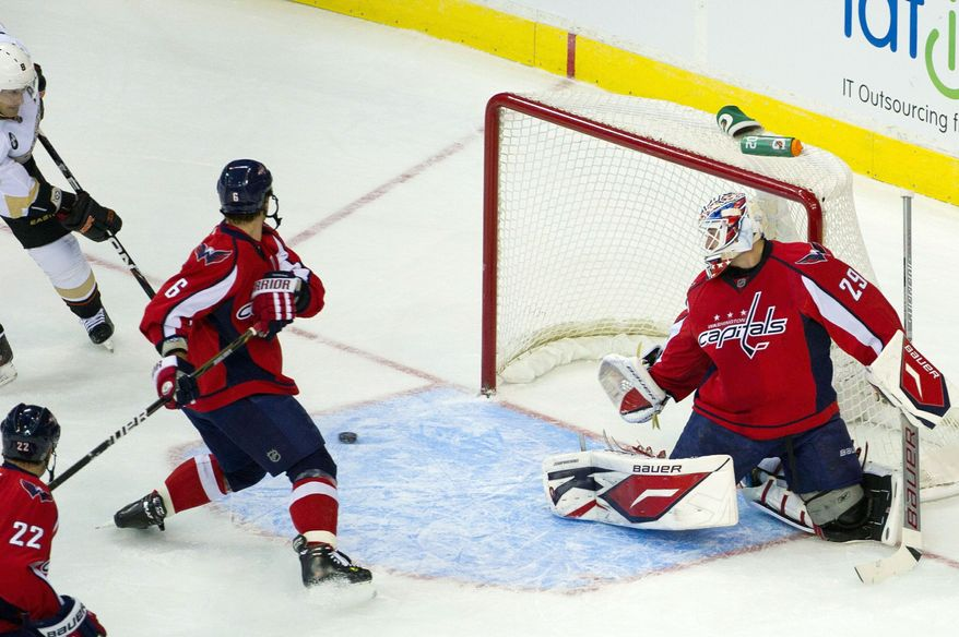 Washington goalie Tomas Vokoun played the past four seasons with Florida, but he was given the night off Monday when the Capitals took on the Panthers. (Andrew Harnik/The Washington Times)