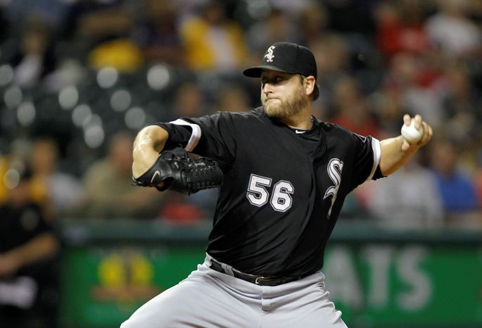 Left-hander Mark Buehrle was 13-9 with a 3.59 ERA for the Chicago White Sox in 2011. Buehrle likely will insist on a no-trade clause in his next contract. (Associated Press)