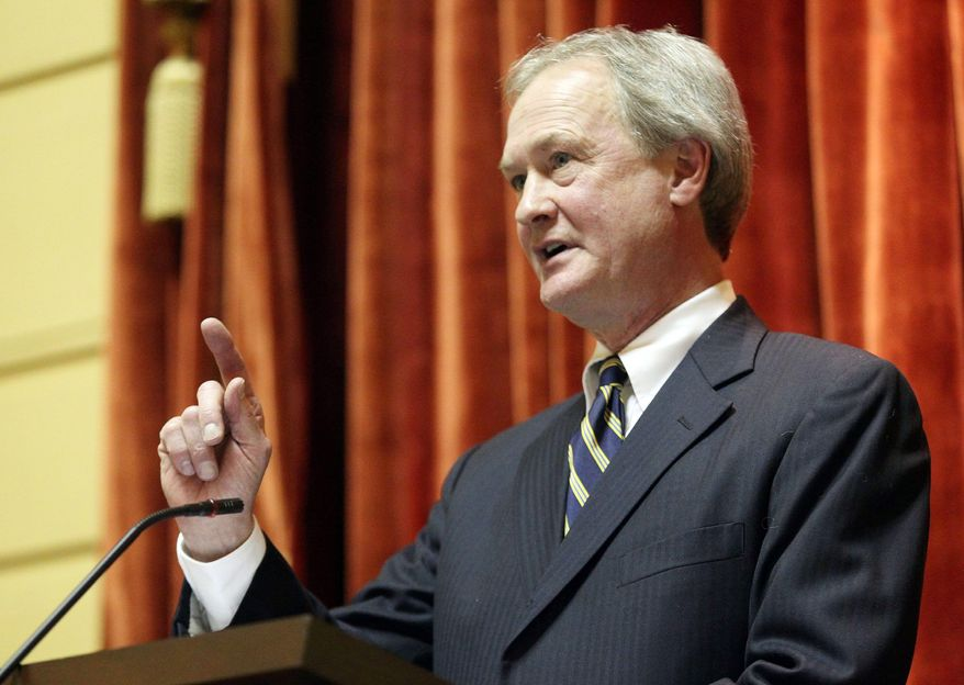 "Rhode Island Gov. Lincoln Chafee defends his ""Holiday Tree"" declaration by saying it simply honors the state's origins as a sanctuary for religious diversity. ""Use of the term 'holiday tree' is a continuation of past practice,"" he said. (Associated Press)"