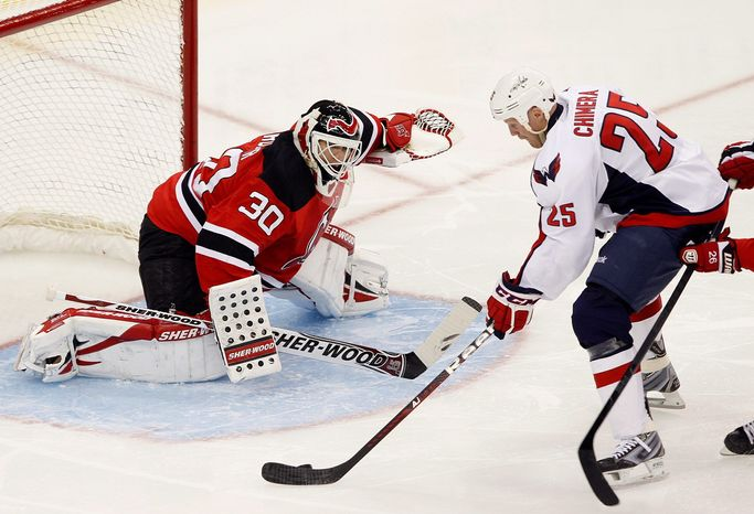 Capitals left wing Jason Chimera has 11 goals through the first 26 games, putting him on a pace to score 35. His career high is 17 with Columbus in 2005-06. (Associated Press)