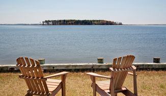 The property has a 750-foot dock and about 7,050 feet of waterfront land.