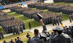 Soldiers and sailors in their dress grays and blues is an impressive sight to anyone watching the annual Army-Navy game. On Saturday, the service academies will meet at FedEx Field. (Rod Lamkey Jr./The Washington Times)