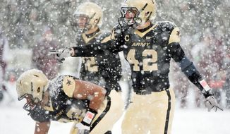 Andrew Rodriguez #42 of The Army Black Knights plays during a game. (United States Army photo)