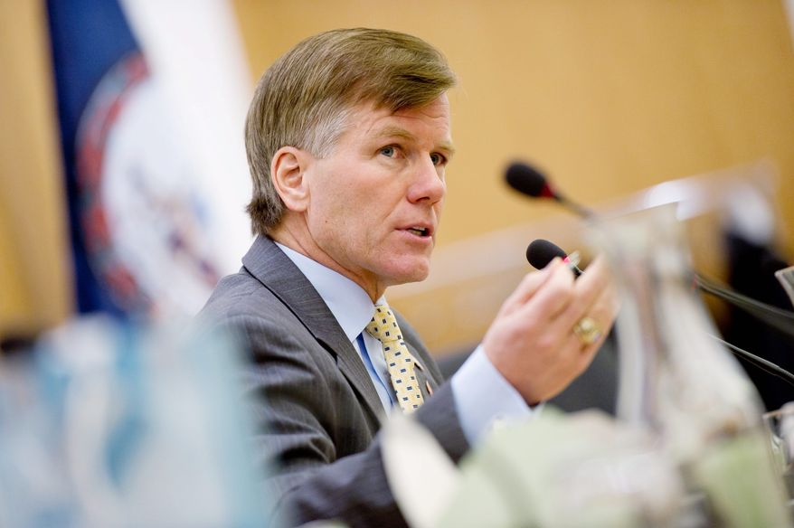 """Virginia Gov. Bob McDonnell is proposing a shift of revenue as part of his plan to fund the state's inadequate road system. He said Thursday that if the state government can effectively set priorities on spending, it can reallocate some general fund dollars to transportation - a """"core function of government."""" (Andrew Harnik / The Washington Times)"""