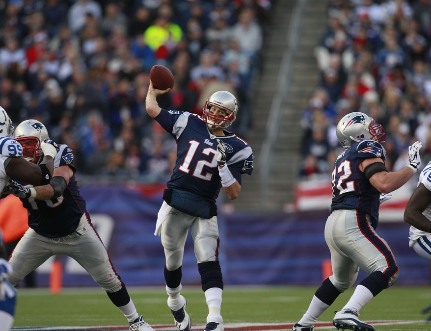 Giving New England Patriots quarterback Tom Brady time to pick apart the defense and a comfortable pocket with which to work will result in a long day for the Washington Redskins' defense. (AP Photo/Elise Amendola)