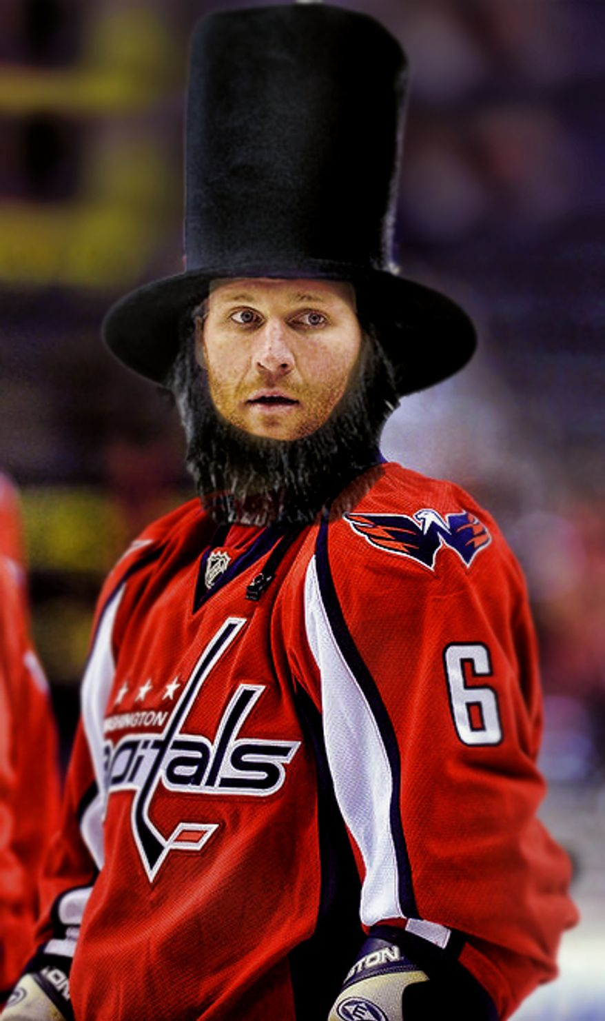 Dennis Wideman as Abraham Lincoln photoshop No. 4 by @gottabgbabe.