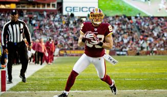 The Redskins' offense was humming along so well Sunday that even David Anderson, a receiver who was not on the roster at the beginning of the season, got into the scoring act with a 6-yard touchdown catch in the third quarter. While entertaining, much of the firepower can be attributed to the Patriots' pass defense, which has allowed many teams to score plenty of points. (Pratik Shah/The Washington Times)