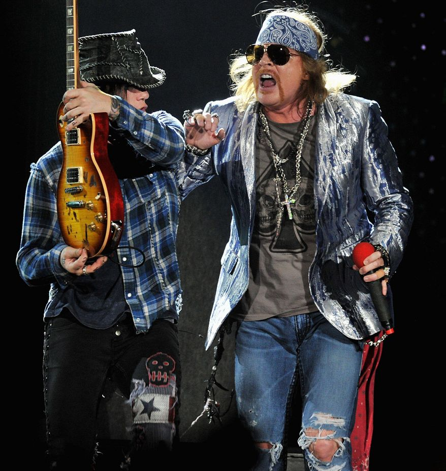 Guns N' Roses, along with several acts that lack fame, is on the list to be inducted in 2012. (Associated Press)