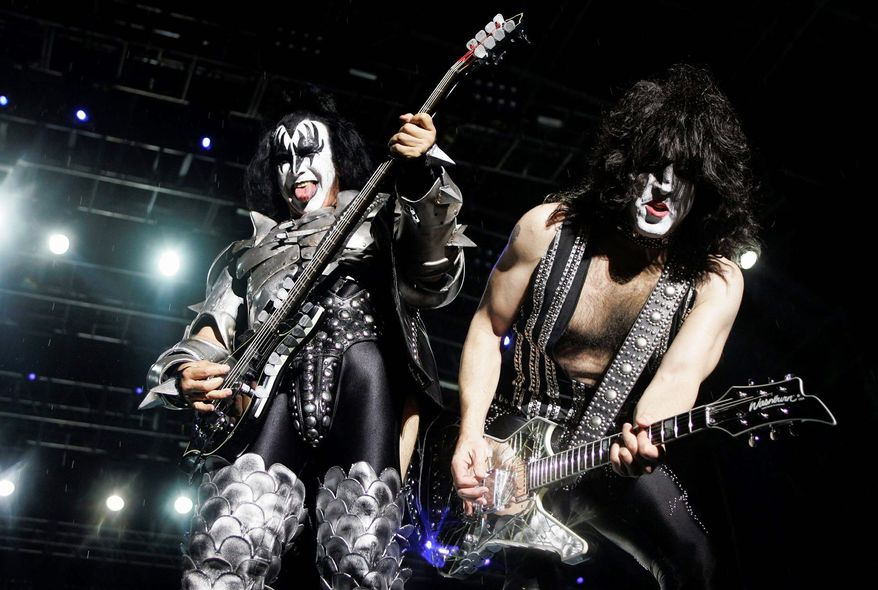 "Kiss is an act that has defined the rock genre, yet the Rock and Roll Hall of Fame has not found a place for the band that has the third-highest total of platinum albums in rock history. Selective ""open-mindedness"" - or maybe mission creep - however, has let in blue-state favorites such as Madonna and the Beastie Boys. (Associated Press)"