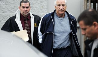 Former Penn State defensive coordinator Jerry Sandusky is charged with 52 counts of child sexual abuse. Medical professionals say the pattern appears typical; former players say they can't believe it. (Centre Daily Times via Associated Press)