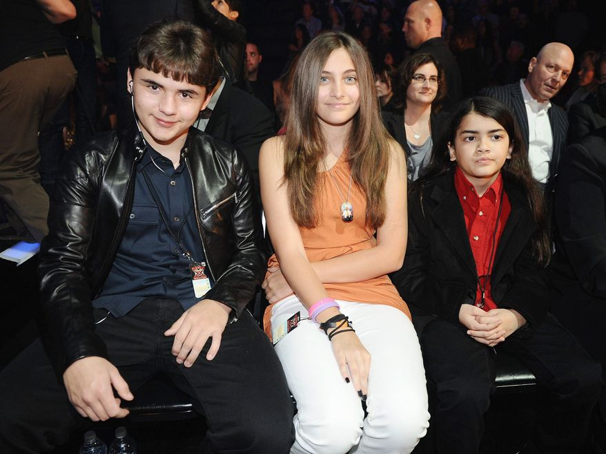 "Paris Jackson, seen in March with brothers Prince Michael (left) and Blanket, will talk about her movie, ""Lundon's Bridge,"" on Ellen DeGeneres' show on Wednesday. (FOX via Associated Press)"