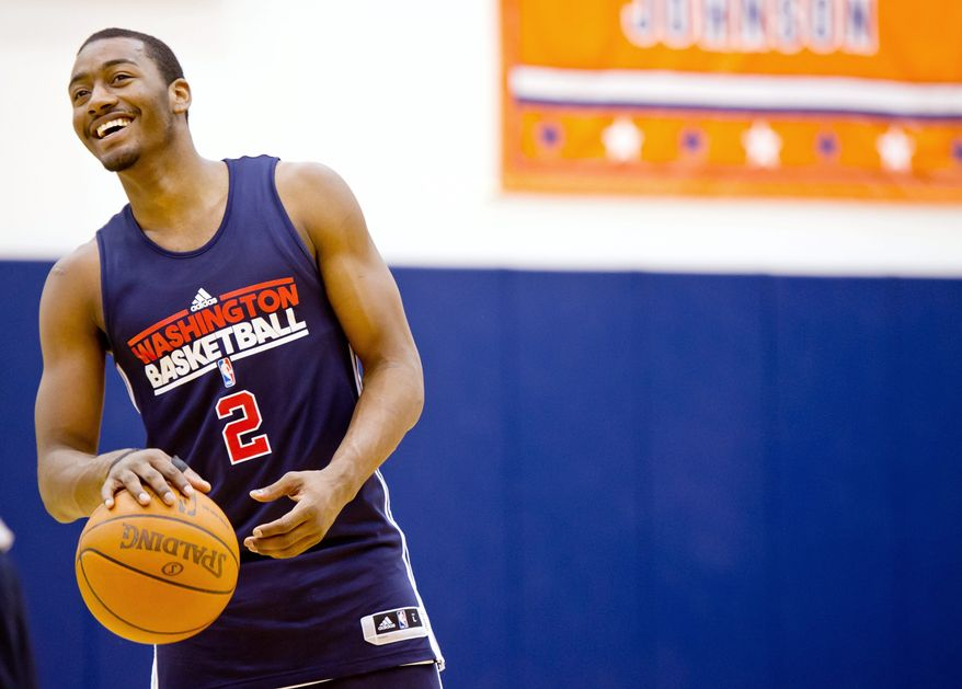 Washington Wizards guard John Wall practices during training camp at the Verizon Center on Dec. 13, 2011. (Andrew Harnik/The Washington Times)