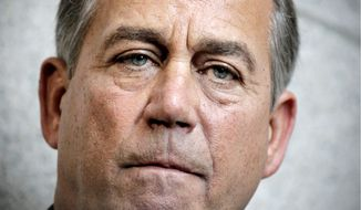 """CHALLENGE: """"The Senate can take up our bill and amend it, or it can pass its own bill. But the Democrats who run the Senate can't continue to shirk their responsibility to govern,"""" says House Speaker John A. Boehner. (Associated Press)"""