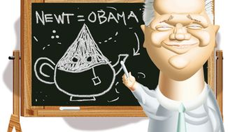 Illustration: Glenn Beck by Alexander Hunter for The Washington Times