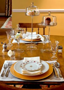 By Angie Seckinger/Courtesy of Shanon Munn Using pretty display stands can make the desserts part of the table's decorations.