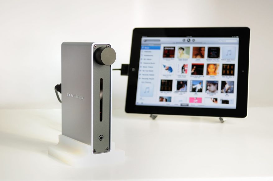 The Icon iDO digital output interface and headphone amplifier from NuForce, $249 improves even the best sound. (Image provided by www.nuforce.com)