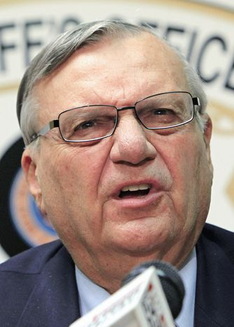 'WHIPPING BOY': Maricopa County Sheriff Joe Arpaio calls the Justice Department report a politically motivated assault by the Obama administration. (Associated Press)