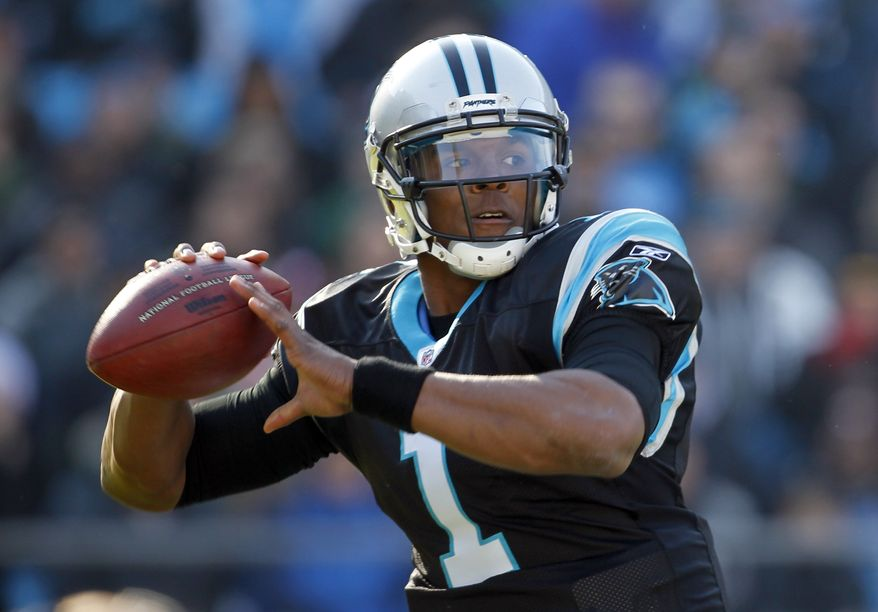 Carolina Panthers rookie quarterback Cam Newton has thrown for 3,573 yards, 15 touchdowns (with 16 interceptions), plus he's run for 554 more with 13 scores this season. (AP Photo/Bob Leverone)