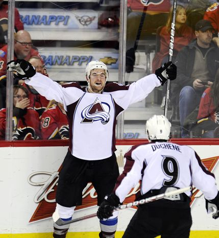 The Colorado Avalanche are the NHL's youngest team. Winger T.J. Galiardi, 23, is in his third NHL season and has six points. (AP Photo/The Canadian Press, Larry MacDougal)