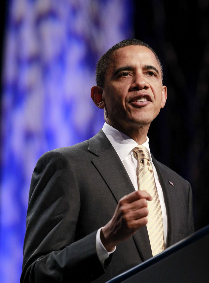 ** FILE ** President Barack Obama delivers remarks at the 71st General Assembly of the Union for Reform Judaism, Friday, Dec. 16, 2011, in National Harbor, Md. (AP Photo/Haraz N. Ghanbari)