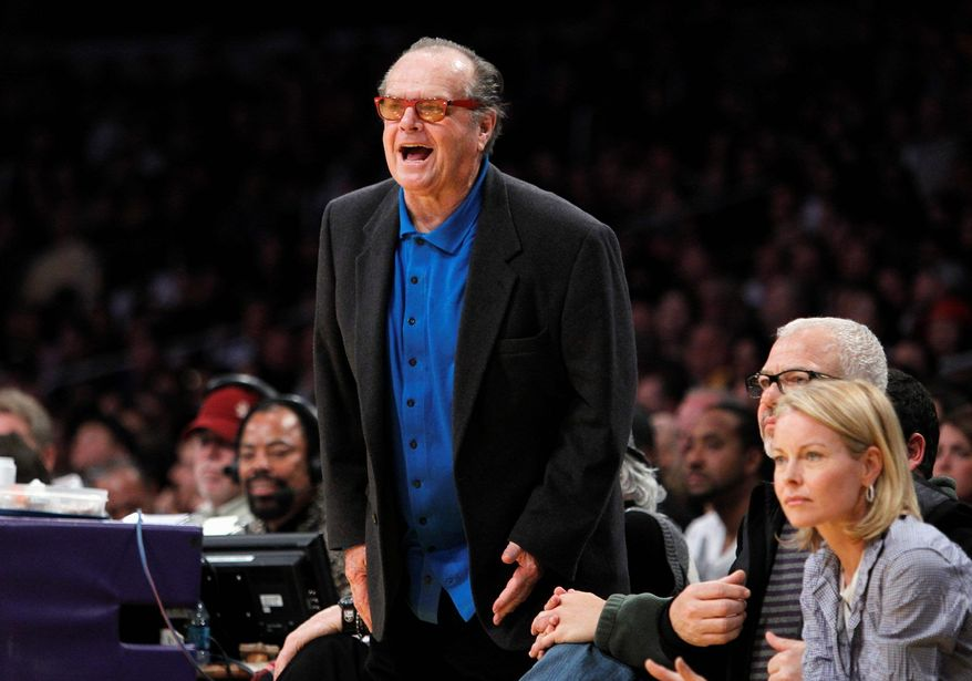 """Actor Jack Nicholson yells at the referees during a Los Angeles Lakers game last season. The Lakers recently traded away forward Lamar Odom, the husband of Khloe Kardashian. """"You probably won't see the Kardashians courtside at Lakers games anymore,"""" said writer Laura Lane."""