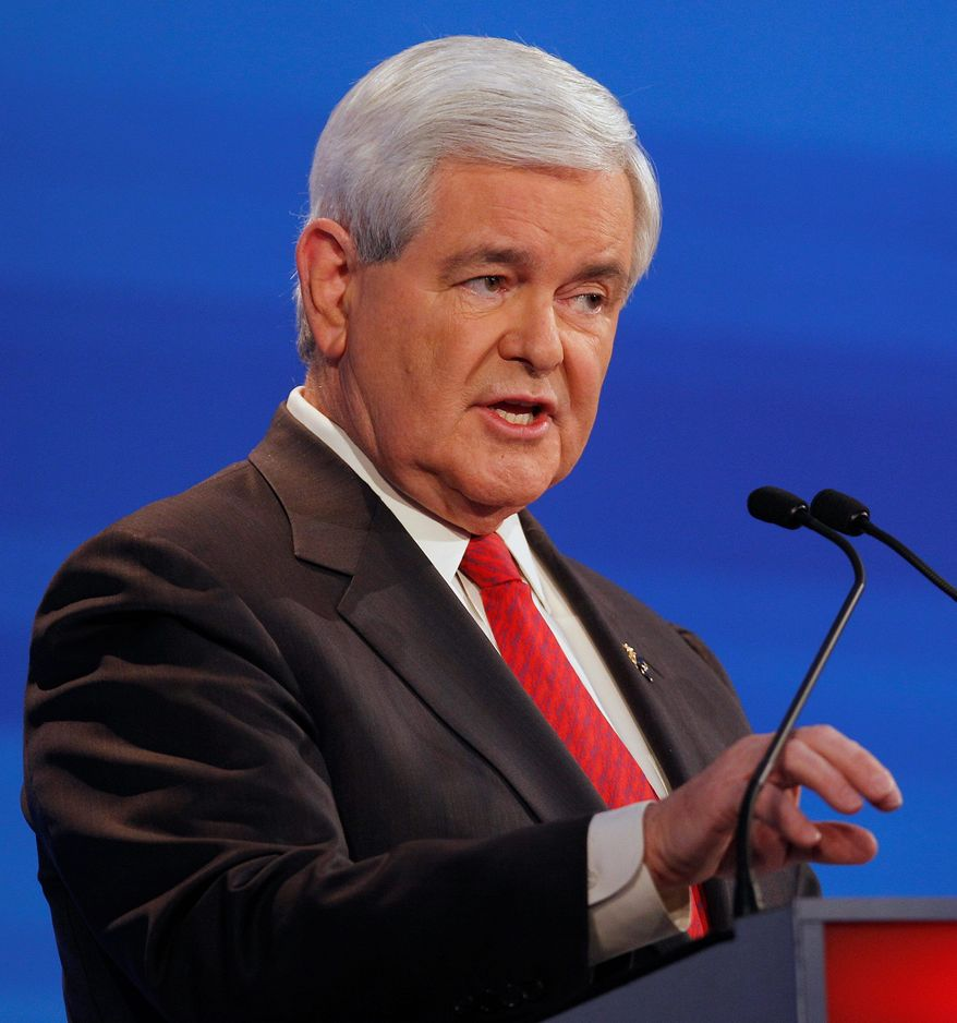 Republican presidential candidate former House Speaker Newt Gingrich, the current front-runner, has gained favor with tea party supporters, despite the fact he has been an insider for more than three decades in Washington politics. (Associated Press)