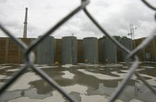 ** FILE ** Dry cask units store nuclear fuel at the Vermont Yankee nuclear power plant in Vernon, Vt., in June 2009. (AP Photo/Toby Talbot, File)