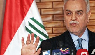 Iraq's Shiite-led government issued an arrest warrant on Monday for Iraqi Vice President Tariq al-Hashemi, a Sunni. (Associated Press)