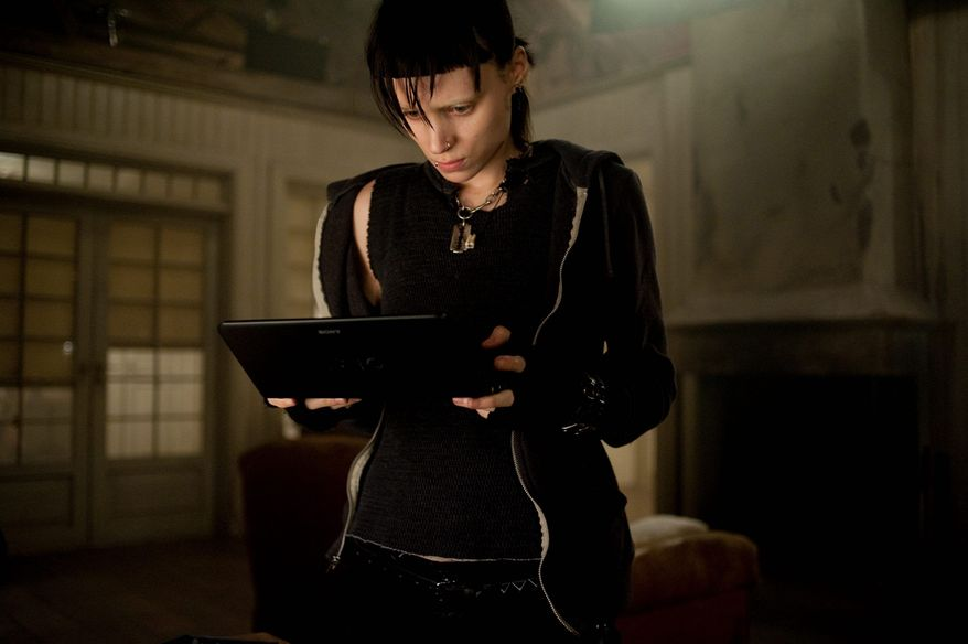 """In this film image released by Sony Pictures, Rooney Mara is shown in a scene from """"The Girl With The Dragon Tattoo."""" (AP Photo/Sony, Columbia Pictures, Merrick Morton)"""