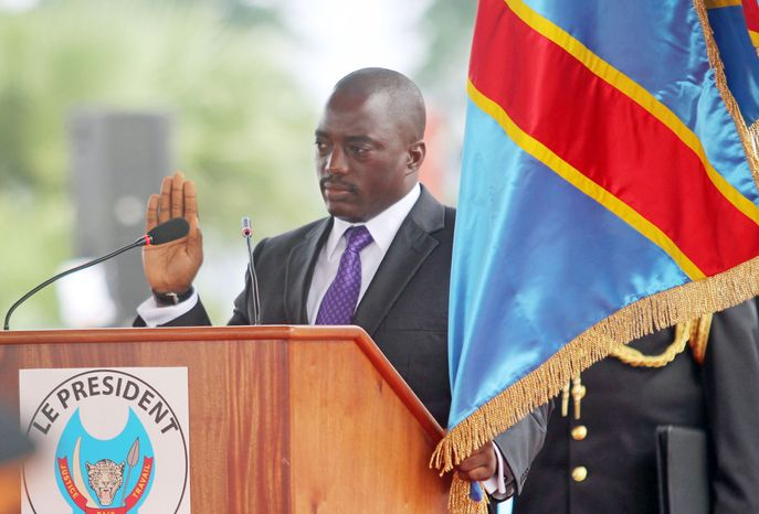 Congolese President Joseph Kabila takes the oath of office for a second five-year term and pledges to unify his country after fending off a challenge from the top opposition candidate in an election criticized by international observers. (Associated Press)